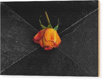 Street Rose Wood Print