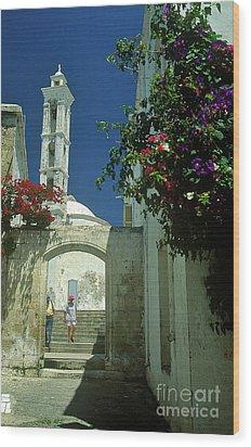 Street-scene In Kyrenia In Northern Cyprus  Wood Print by Alex Cassels