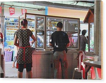 Street Scene - Phi Phi Island - 01135 Wood Print by DC Photographer
