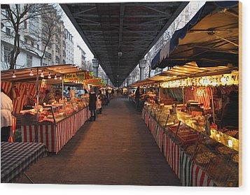 Street Scenes - Paris France - 011316 Wood Print by DC Photographer