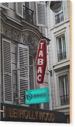 Street Scenes - Paris France - 011340 Wood Print by DC Photographer