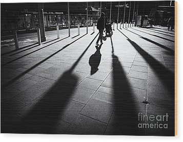 Street Shadow Wood Print by Yew Kwang