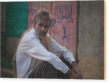 Street Vendor - India Wood Print