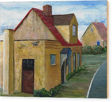 Wood Print featuring the painting Street View In Zealand by Lenora  De Lude