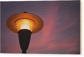 Streetlamp Wood Print