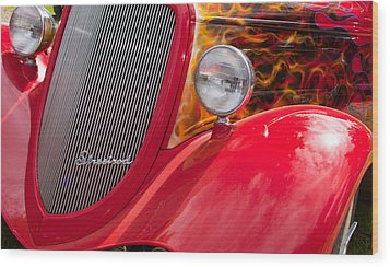 Streetrod Red Wood Print