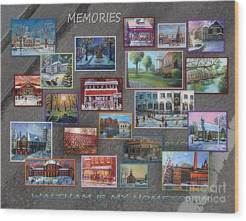 Streets Full Of Memories Wood Print