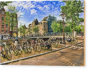 Wood Print featuring the photograph Streets Of Amsterdam by Brent Durken
