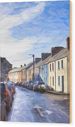 Streets Of Galway On A Winter Morn Wood Print by Mark E Tisdale