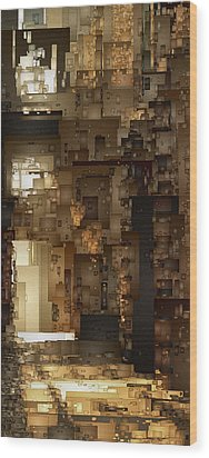 Streets Of Gold Wood Print by David Hansen