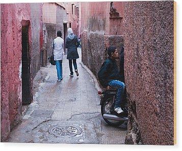 Streets Of Marrakesh Wood Print by Daniel Kocian