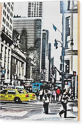 Streets Of Nyc 14 Wood Print by Mario Perez