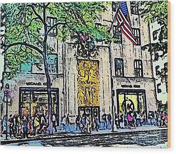 Streets Of Nyc 7 Wood Print by Mario Perez