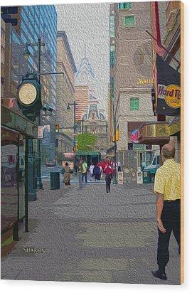 Streets Of Philadelphia Wood Print by Garland Johnson