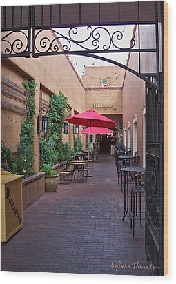 Wood Print featuring the photograph Streets Of Santa Fe by Sylvia Thornton