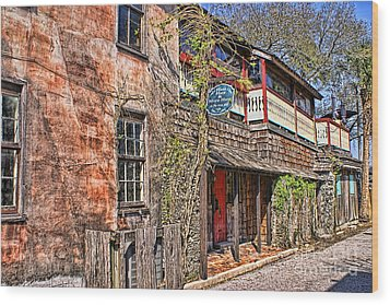Wood Print featuring the photograph Streets Of St Augustine Florida by Olga Hamilton