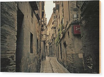 Streets Of Toledo Wood Print