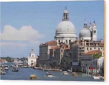 Streets Of Venezia 1 Wood Print