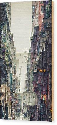 Streetscape 1 Wood Print by David Hansen