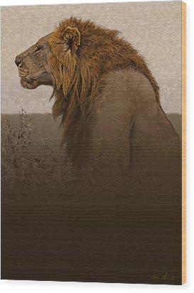 Strength Wood Print by Aaron Blaise