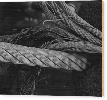 Strength Of Strings Wood Print by Odd Jeppesen
