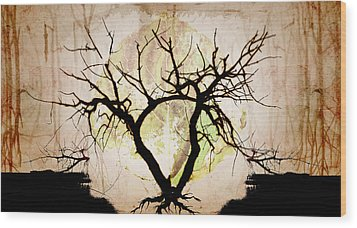 Stretching Wood Print by Brett Pfister