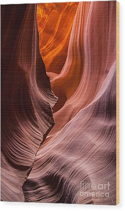 Striations Wood Print by Jim McCain