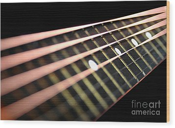 String Abstract Large Wood Print by Dan Holm