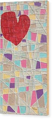 Strings To My Heart  Wood Print