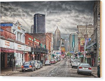 Strip District Pittsburgh Wood Print by Emmanuel Panagiotakis