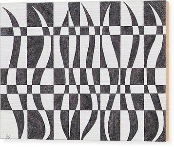 Striped Wood Print by Eric Forster