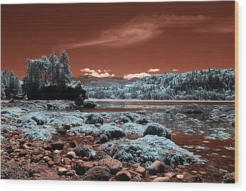 Striped Peak Wood Print