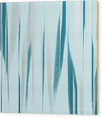 Stripes 9 Abstract Square Wood Print by Andee Design
