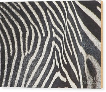 Stripes And Ripples Wood Print by Kathy McClure