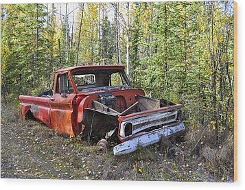 Wood Print featuring the photograph Stripped Chevy by Cathy Mahnke