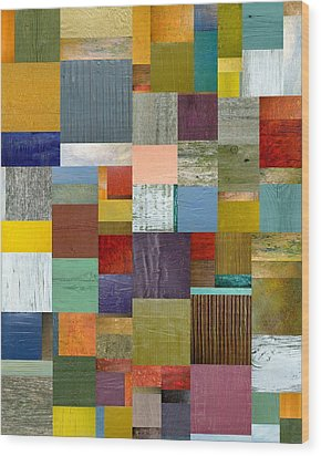 Strips And Pieces Vl Wood Print by Michelle Calkins