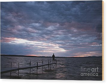 Strom Watch Sebago Lake Wood Print