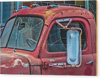 Wood Print featuring the photograph Strong City Red by Steven Bateson
