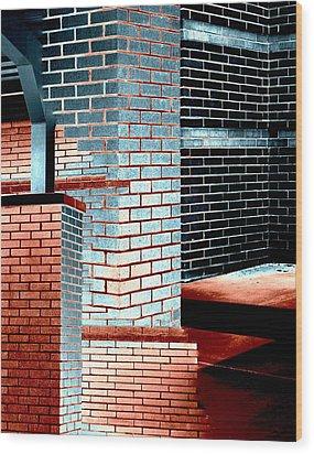 Structuralism Wood Print by Steve Godleski