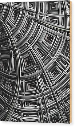 Structure Wood Print by John Edwards