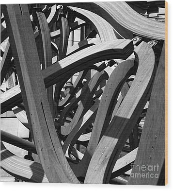 Structure Wood Print by Tom Gallahue
