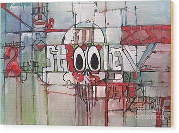 Struggle Repeat And Struggle Wood Print by J Ethan Hopper