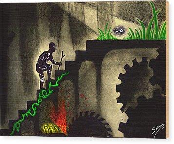 Life's Struggle Wood Print by Salman Ravish