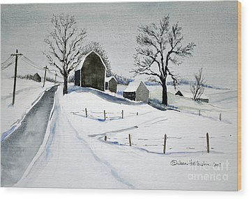 Strutt Road Wayland Ny Wood Print