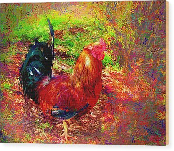 Strutting In Living Color Wood Print by Joyce Dickens