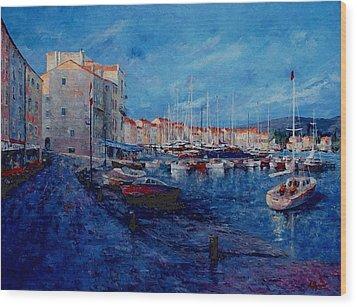St.tropez  - Port -   France Wood Print by Miroslav Stojkovic - Miro