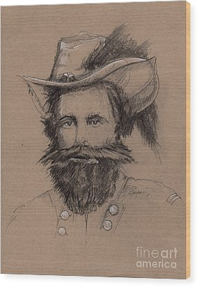 Stuart's Rebuke Wood Print