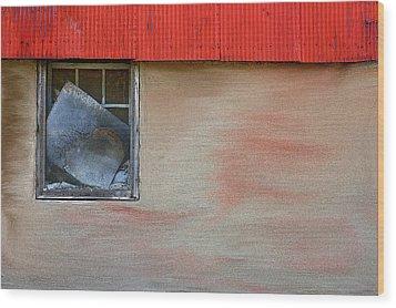 Stucco Flow Wood Print by Randy Pollard
