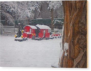 Stuck Train Wood Print by Richie Stewart