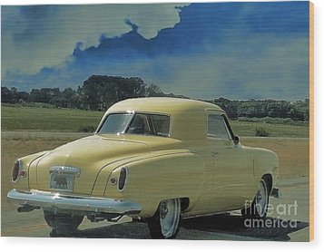 Studebaker Starlight Coupe Wood Print by Janette Boyd